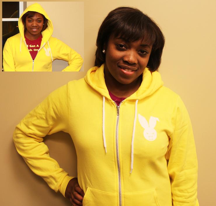 Yellow Fleece Zip Up Hoody for Men and Women - The Epic Elite Class series from Blam Tees