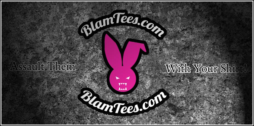 Blam Tees Logo Banner Splash