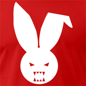 BlamTees - Evil Bunny Rabbit - Classic Logo Tee