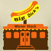 Big Dicks Wiener Shack funny tee shirt designs