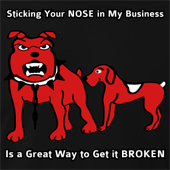Sticking Your Nose In My Business Is A Great Way To Get It Broken