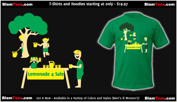Lemonade Stand -  Funny Cute T-Shirt by Blam Tees