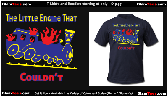 The Little Engine That Couldn't - Little Engine That Could Parody - Men and Women's T-Shirt