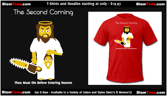 The Second Coming - Jesus Manson Chainsaw Maniac - Men and Women's Funny T-Shirts