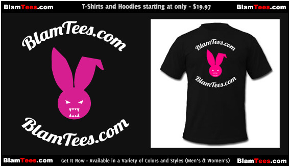 The Blam Tees - Full Circle Logo T-Shirt - Featuring Fluffy The Evil Blam Bunny