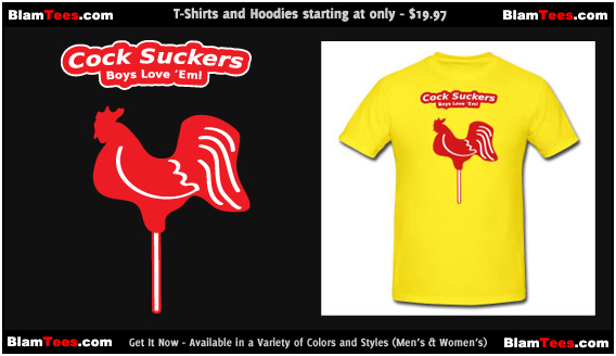 The Cock Suckers - Rooster Pops Promo T-Shirt by Blam Tees