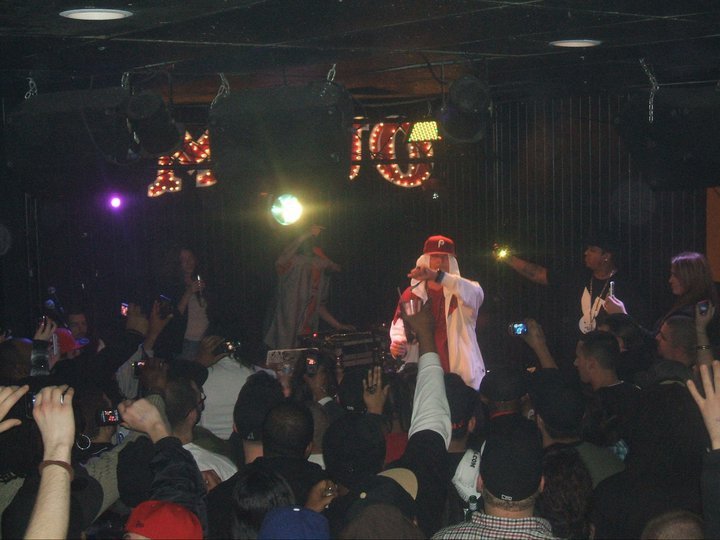 Bizzy Bone on stage peforming with C-Rock by his side